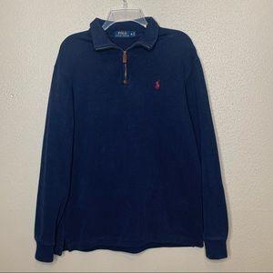Polo Ralph Lauren M Blue 1/4 Zip Pullover Sweater